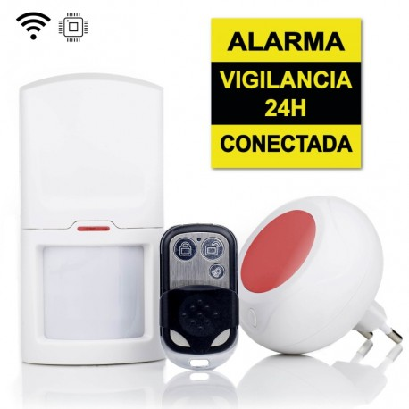 Kit sistema de alarma, sirena incluida, ampliable hasta 100 sensores