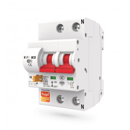 Interruptor automatico magnetotermico wifi rearmable