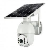 Cámara Solar 4G motorizada con baterías totalmente inalámbrica para exterior con visión nocturna y detección de movimiento