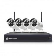 Kit videograbador wifi NVR con 4 cámaras IP exterior/interior