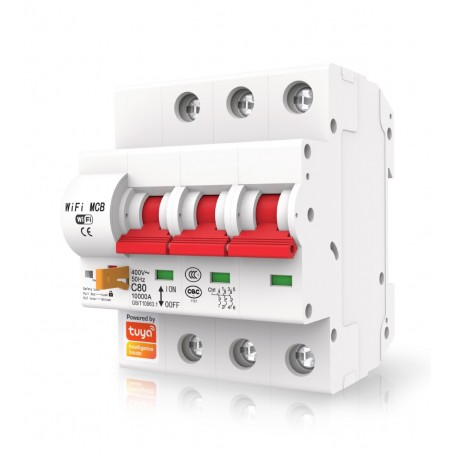 Interruptor automatico magnetotermico wifi rearmable Trifasico