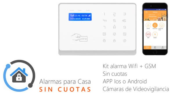 Kit Alarma inteligente WIFI+GSM