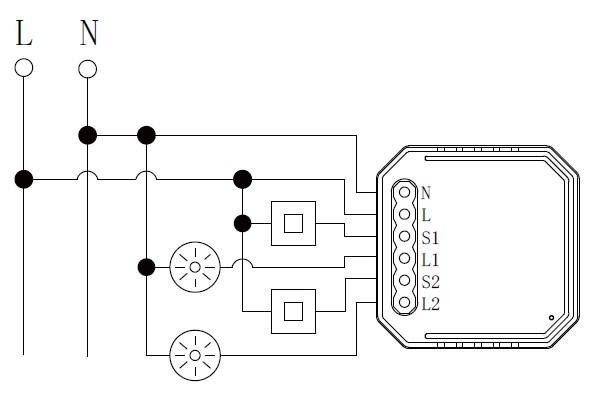 interruptor wifi 2 canales