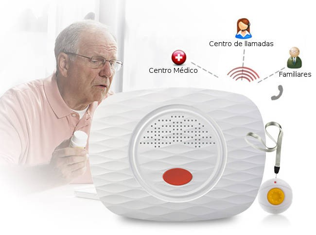 Kit Teleasistencia PE para Personas Mayores, Sin Cuotas