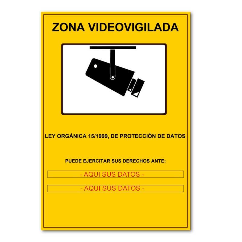 Cartel PERSONALIZADO lopd proteccion de datos informativo camaras de vigilancia